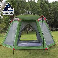 Hewolf tents outdoor 3 4 people 5 8 people camping tents camping equipment beach sunscreen barraca gazebo tent