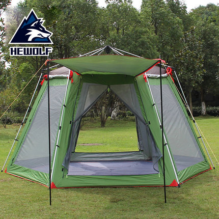 best service 6d9a8 91184 Aliexpress.com : Buy Hewolf tents outdoor 3 4 people 5 8 people camping  tents camping equipment beach sunscreen barraca gazebo tent from Reliable  ...