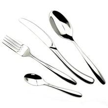 JANKNG 24 Pcs/Lot Stainless Steel Flatware Set Spoon/Fork/Knife Silver Tableware Set  Dinnerware Knives Forks Cutlery Set