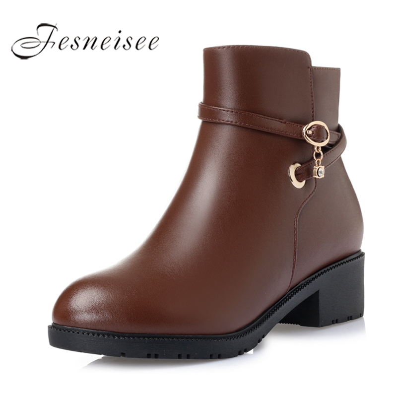 цены  2017 Autumn Winter Women Shoes Woman Genuine Leather Wedges Snow Boots Height Increasing Ankle Boots Women Boots Size 35-43 M3.5