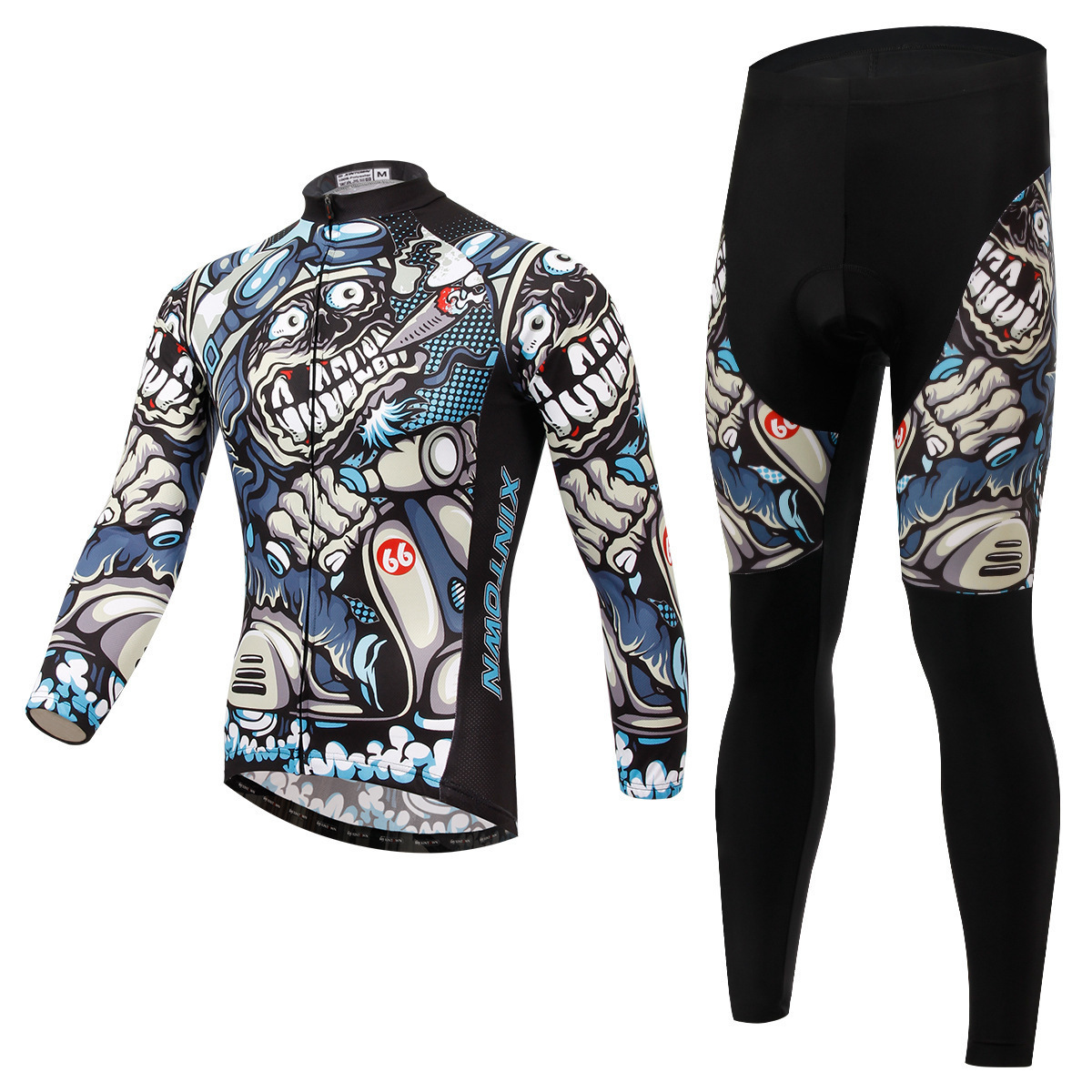 XINTOWN Spring Autumn Cycling Jersey Sets Long Sleeve Jerseys Cycling Pants Sest Bike Bicycle Cycling Clothes UV rResistant xintown mens cycling jerseys set long sleeves mtb jersey pad bike bicycle jacket sets shirts wear uniforms cigar skull s 4xl