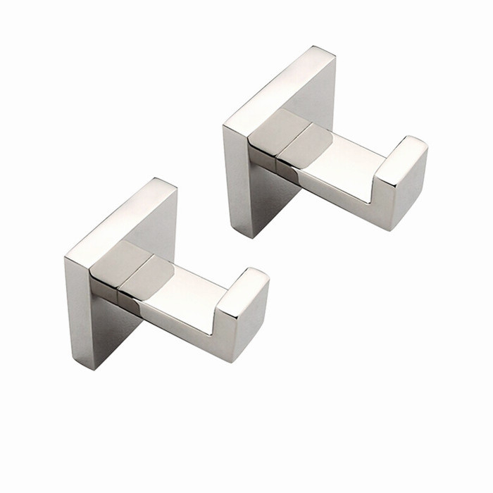 Free Shipping SUS304 Material Mirror Polishing Bathrom Accessories Robe Hook Bathroom Robe Hook 2pcs/Set SM009-D