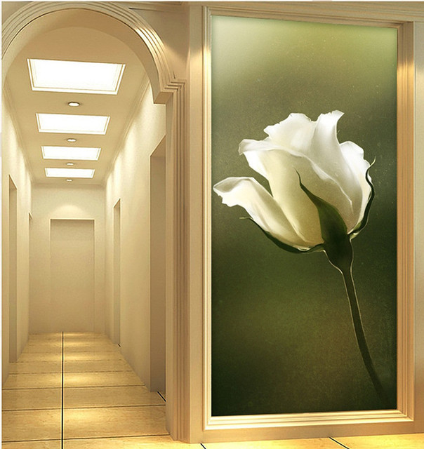 Elegant Wallpaper For Wall: Elegant 3D Wallpaper Nature Wall Mural Rose Photo