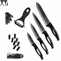 3 4 5 6 Inch Kitchen Knives XYJ Brand Black Blade Ceramic Knife Peeler With Acrylic