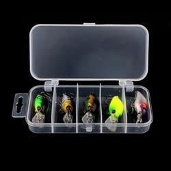 Hengjia 5pcs/lot Fishing Lures Kit Plastic Crank Bait 4.2g/5cm Wobblers Crankbait Tackle Bass Bait For Fishing Wobber Sets