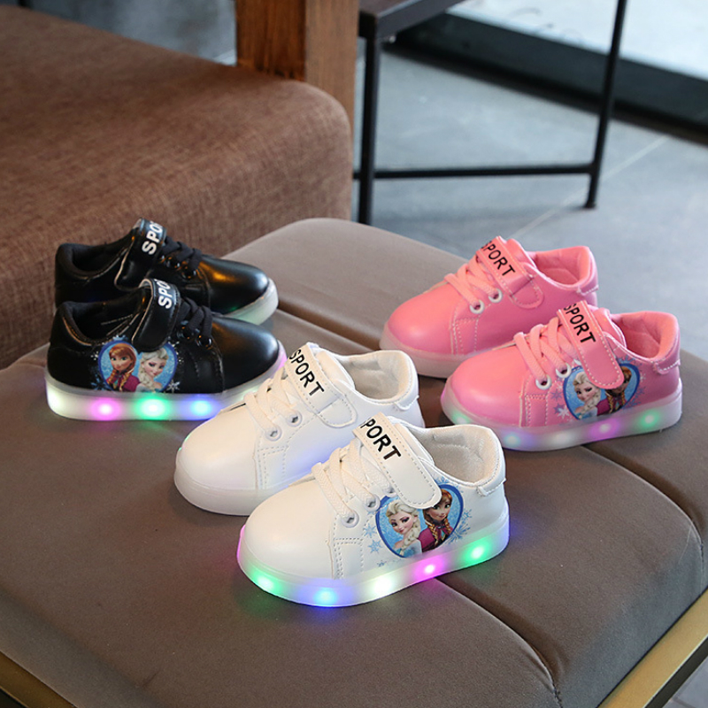 Girl Shoes 2018 Luminous Sneakers Chaussure Enfant Kids Led Shoes  with Light Baby Boys Led Light Sport Shoes Girls Sneakers