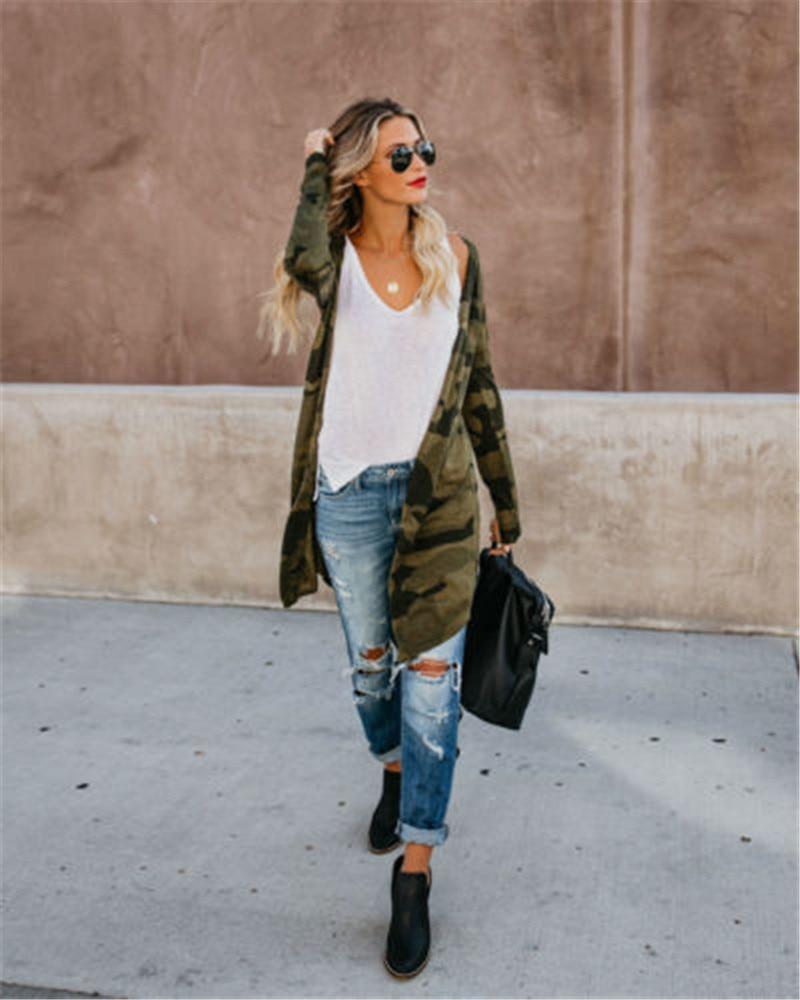 New Fashion Women Autumn Loose Long Sleeve Cardigan Leopard Kimono Shawl Tops Coat Jacket