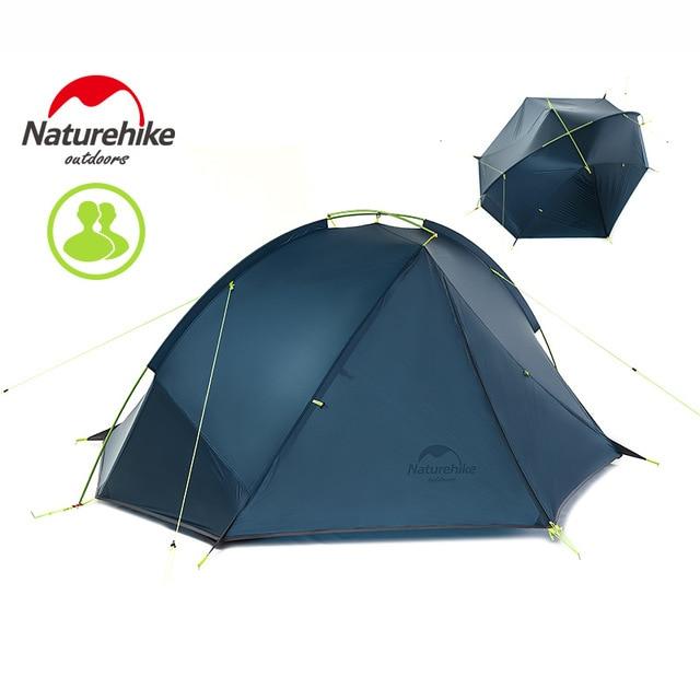 NatureHike Taga 1-2 Persona de la tienda de Camping mochila tienda 20D ultraligero de NH17T140-J