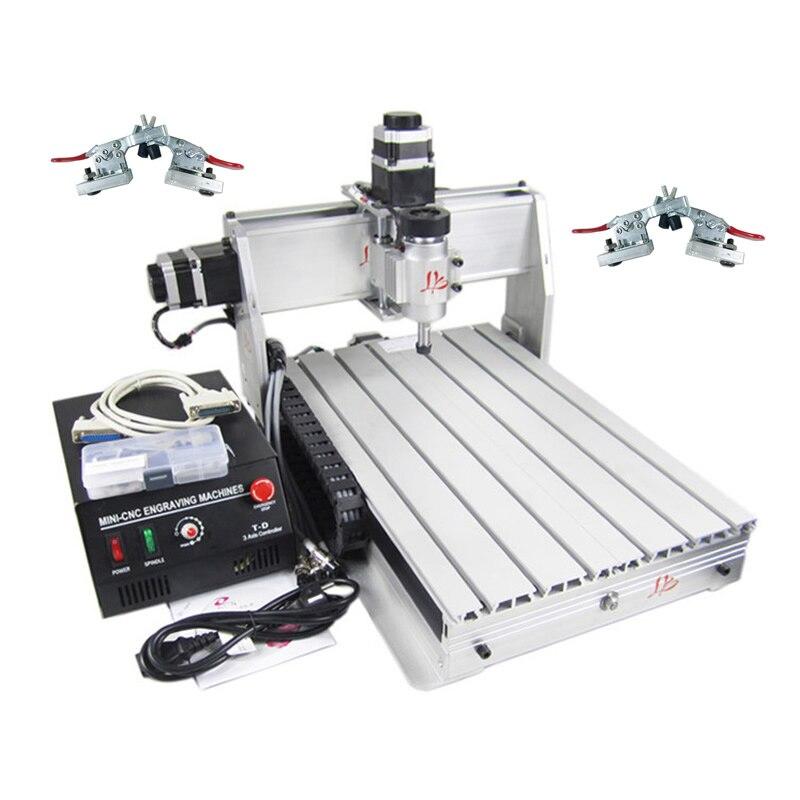 Russie pas de taxe CNC bois routeur 3040 gravure fraisage Machine de découpe avec 4 pièces gratuit plaine Vice métal graveur