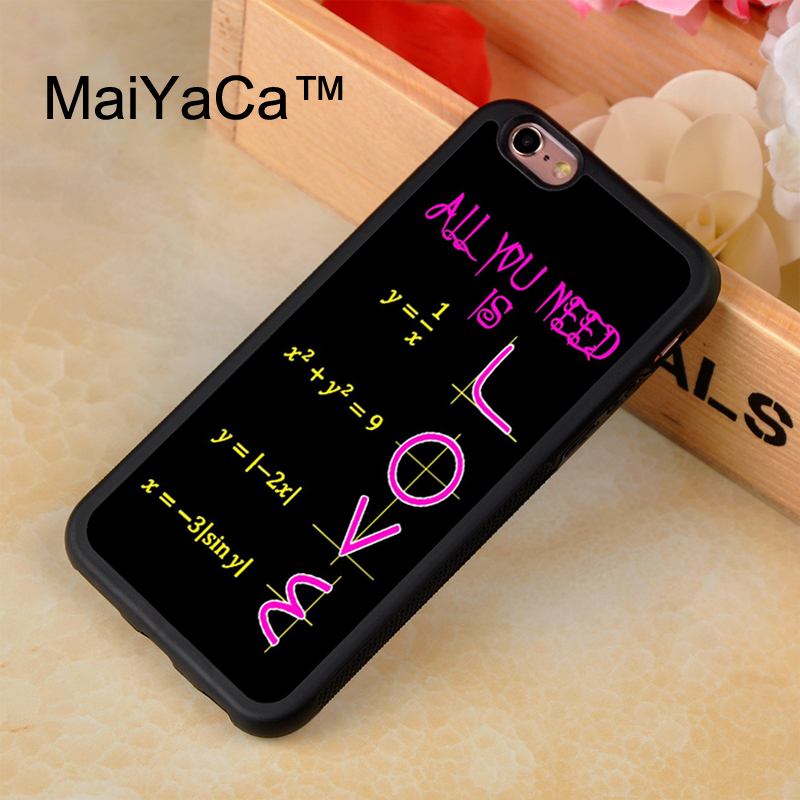 MaiYaCa Funny School Math quotes LOVE Printing Rubber Case Cover For ...