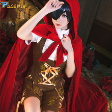 купить Black Butler Kuroshitsuji Ciel Phantomhive Little Red Riding Hood Uniforms Cosplay Costume In Stock по цене 1406.83 рублей