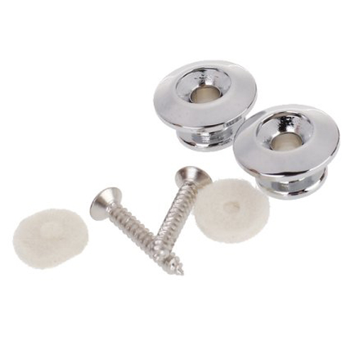 SEWS 2pcs Strap Button W/ Mounting Screw For Guitar Mandolin---Silver