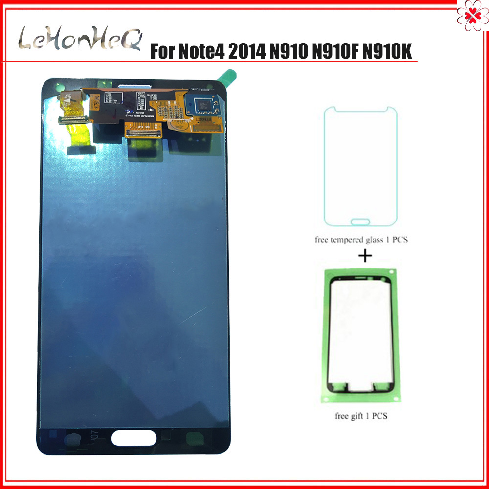 AMOLED <font><b>LCD</b></font> Für Samsung <font><b>Galaxy</b></font> <font><b>Note4</b></font> 2014 N910 N910F N910K <font><b>LCD</b></font> Display Touchscreen Digitizer Montage Für Samsung Note 4 <font><b>LCD</b></font> image