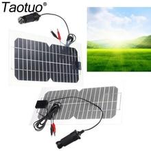 Taotuo 18V 5.5W Solar Panel Monocrystalline Saving Sime-Flexible for RV Travel Boat Car Portable with USB Solar Cell Panels