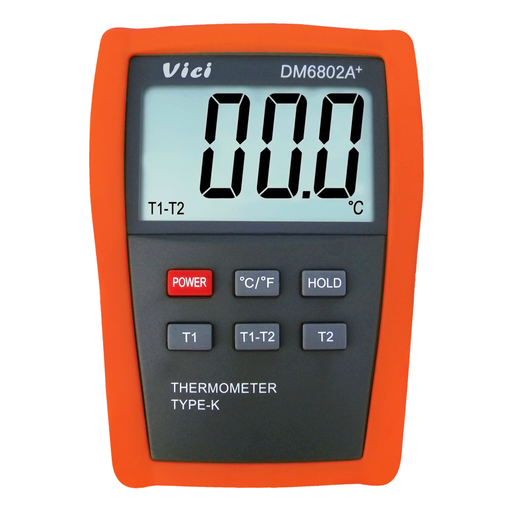 VICI DM6802A+ LCD Digital Thermometer Temperature Meter Instrument w/Two K Type Thermocouple Probes Measuring 50 1300 Degree