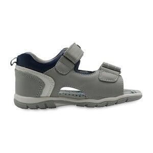 Image 3 - Apakowa erkek hakiki deri sandalet çocuklar burnu açık düz ayakkabı yürümeye başlayan çocuklar için yaz ortopedik plaj sandaletleri kemer desteği ile