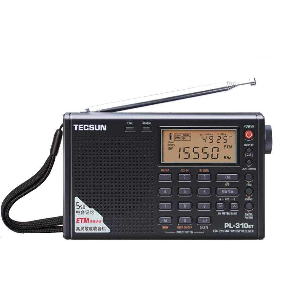Tecsun PL-310ET DSP Receiver With FM stereo/SW/MW/LW Black tivdio portable fm radio dsp fm stereo mw sw lw portable radio full band world receiver clock