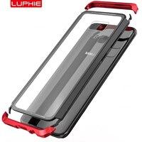Aluminum Metal PC Bumper Case SFor Samsung Galaxy S8 Case Cover S8Plus Transparent Clear 9H Glass