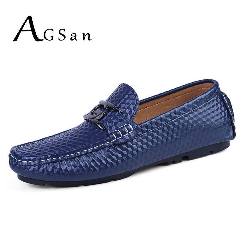 AGSan handmade genuine leather loafers men black italian loafers shoes embossed driving moccasins blue white designer loafers cyabmoz 2017 flats new arrival brand casual shoes men genuine leather loafers shoes comfortable handmade moccasins shoes oxfords