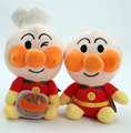 2016 New Hot Anime Anpanman Bread Superman Plush Toys Stuffed Dolls Kids Friends Soft Cartoon Toy Gift 2pcs/lot 20cm
