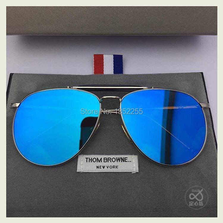 69877566b HOT 2015 Thom Browne Sunglasses Men Brand Designer Sun Glasses TB 015  Fashion Sunglass women Oculos De Sol with original box -in Sunglasses from  Apparel ...