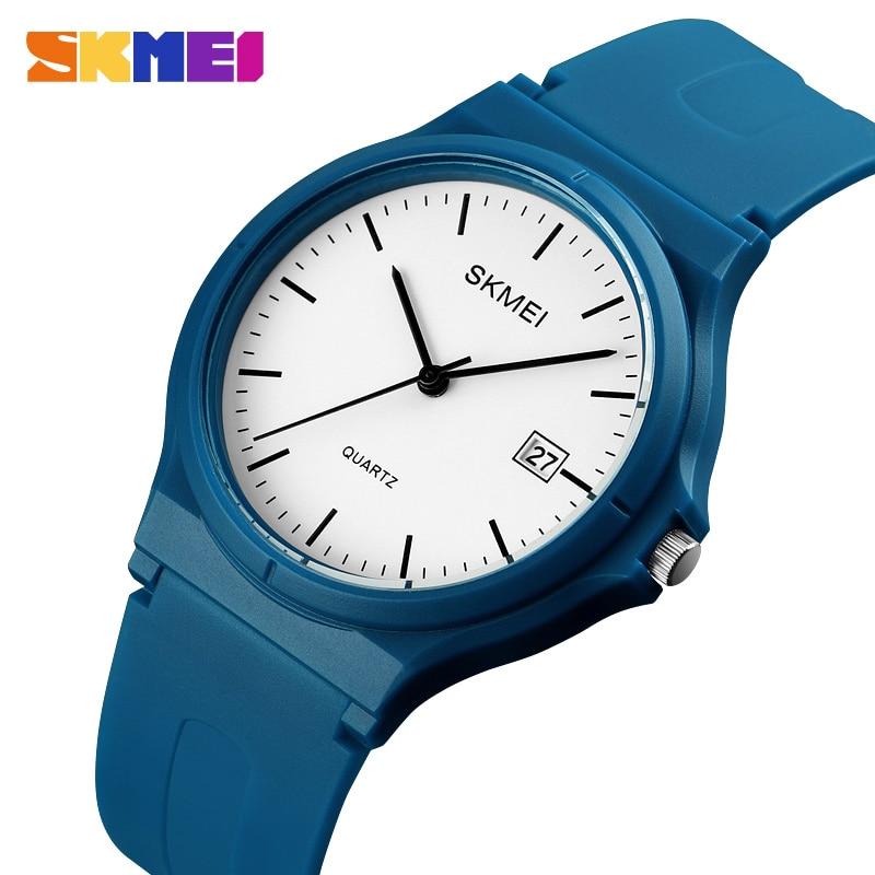 SKMEI Sports Quartz Watch For Womens Casual 5Bar Waterproof Wristwatches Ladies Fashion Large Dial Minimalist Clock Reloj Mujer
