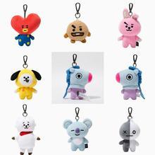BTS Bomb Army Plush Toys Keychain Bangtan Boys Marchandise Peluche Doll Toy Jung kook Jimin Jin Suga J-hope Soft Stuffed Key Toy