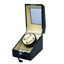 high end p0078 le leather 2 seats automatic watch winder for gift Watch Winder 2+3 Wood Leather Lock Motor Box Special Luxury Automatic Brand Wathes Women/Men Storage Display Watches Gift  Boxes