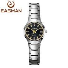EASMAN Marca de Relojes Mujeres de Acero de Tungsteno Reloj de Cuarzo de Las Señoras Relojes de Diseño de Lujo de Cristal de Zafiro Relojes de Pulsera Para Las Mujeres(China (Mainland))