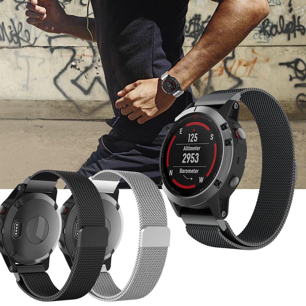 Миланского Магнитная Петля нержавеющая сталь Смарт часы ремешок для Garmin подход S60 SmartWatch Спортивные товары интимные аксессуары