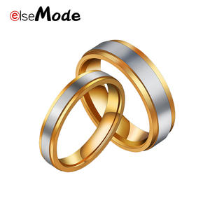 Rings Jewelry Couple Wedding-Band Steel ELSEMODE Titanium Women Fashion for 1pcs Fade
