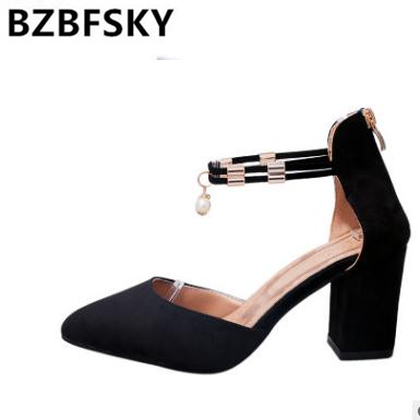 Bzbfsky2018 Tenis Vestir Mujer Gray Boda Punta 7cm Zapatos Lado jc54ALq3R