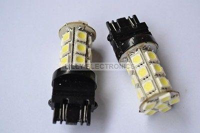 2x 3157 3156 24 5050 SMD LED Brake Light Bulb White