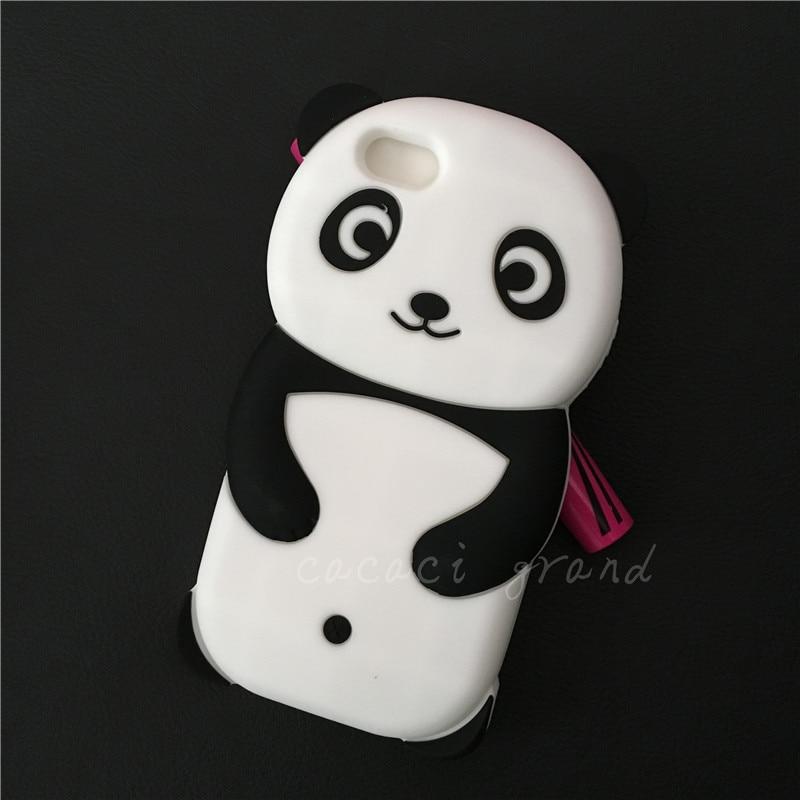 Panda case for iphone 6 6s 5 5s se 5c 4 4s 6plus 6s plus 7 plus 7plus cute animal cover etui coque soft silicon rubber carcasas