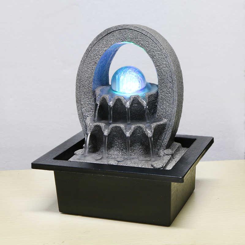 110 V-220 V из мультфильма «Холодное сердце» Стиль смолы мини фонтан увлажнитель воздуха фэн-шуй украшения домашний декор жизни Lucky Desktop светодиодный Атомайзер