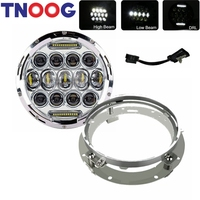 TNOOG 7Inch LED Projector Headlight 7 LED Headlight Mounting Bracket Ring For Electra Glide Ultra Classic EFI