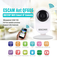 ESCAM Ant QF605 Wireless Surveillance Camera WIFI HD P2P IP Camera Home Security Infrared Camera Monitor