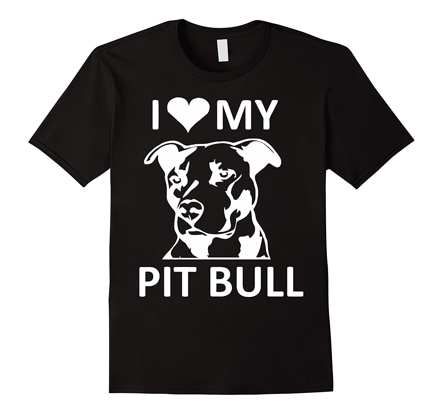 I (heart) My Pitbull T-shirt (I Love My Pitbull Tee,pit Bull Mens Shirts Short Sleeve Trend Clothing Print T Shirt Men Top Tee