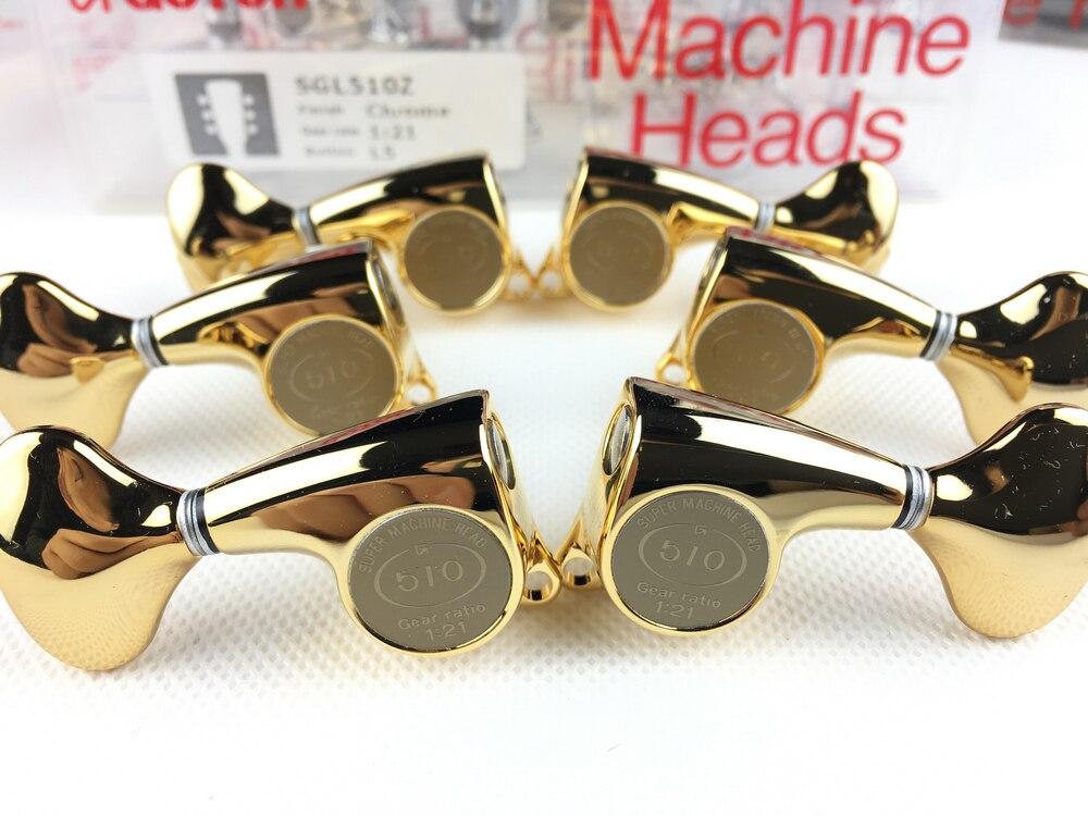 Genuine Original L3+R3 GOTOH SGL510Z L5 Electric Guitar Machine Heads Tuners ( Gold ) MADE IN JAPAN - 4