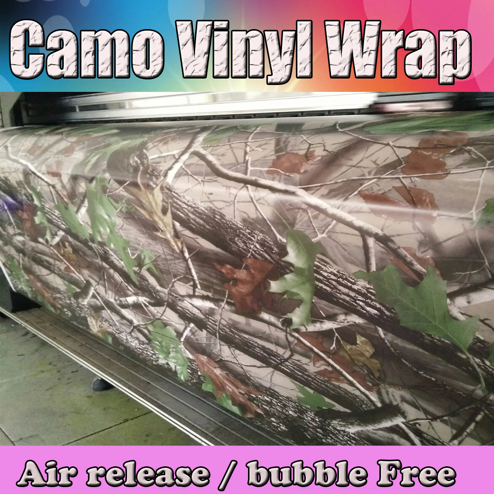 Matte Realtree Camo Vinyl Wrap Real Tree Leaf Camouflage