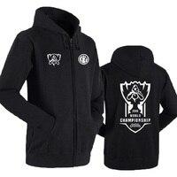League of Legends lol S8 Finals IG FNC RNG Invictus Gaming Team LOL IG Team zippper Hoodies Sweatshirt men Jacket