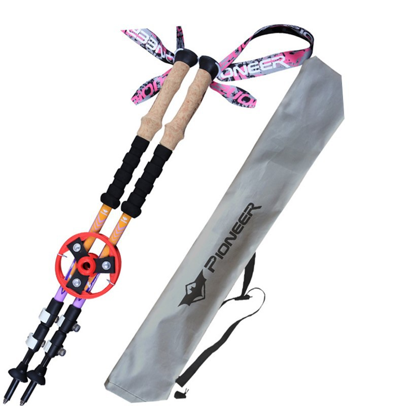 2017 Ultra-light 80% Carbon Fiber Nordic Walking Cane Walking <font><b>Sticks</b></font> Trekking Poles Telescopic <font><b>Sticks</b></font> Alpenstocks with bag