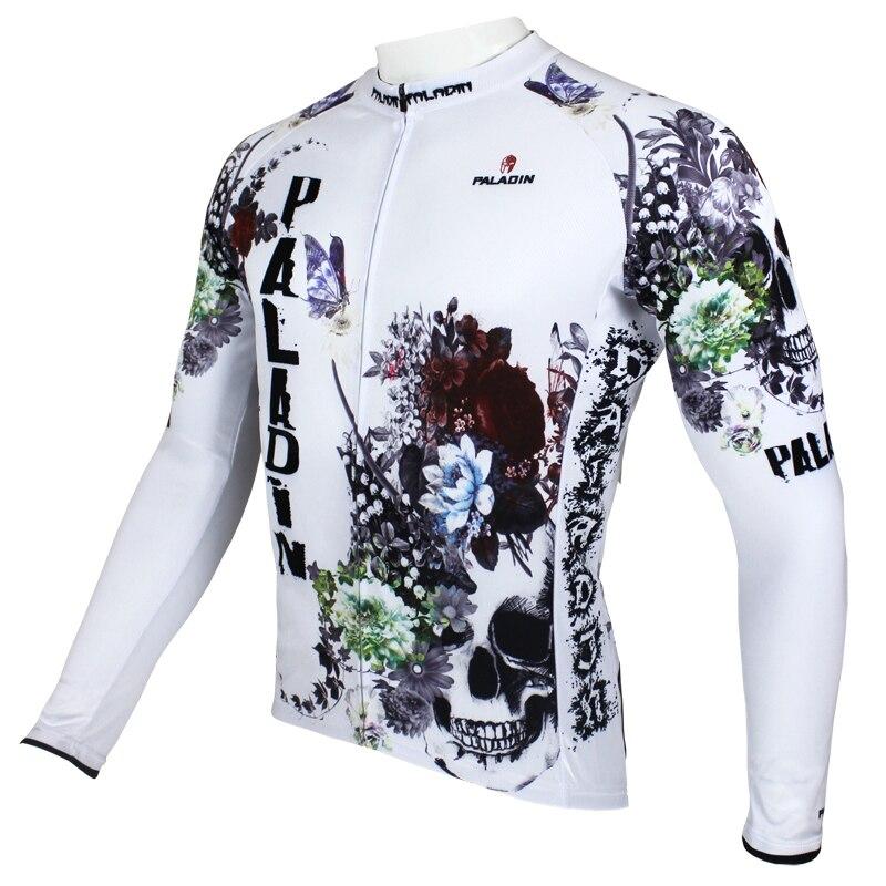 """Paladin """"Flori și craniu"""" pentru bărbați cu tricou cu mâneci - Ciclism"""