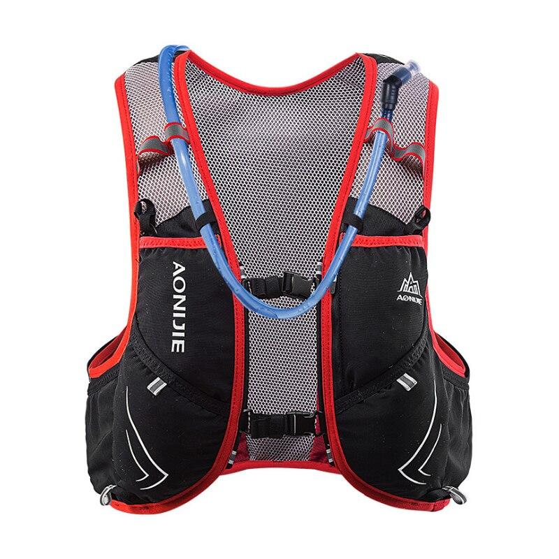 AONIJIE 5L Degli Uomini Delle Donne Maratona Idratazione Maglia Pack Per 2L Sacchetto di Acqua Escursioni In Bicicletta Escursionismo Sacchetto di Sport Esterno Corsa e Jogging Zaino - 3