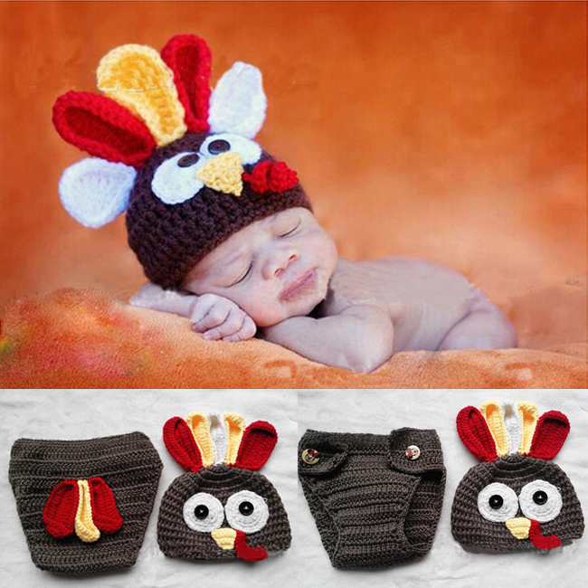 Newborn Hi Q Turkey Clothes Baby Knit Costume Crochet Outfits ...