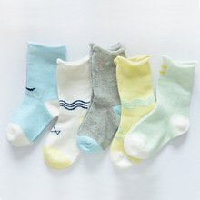 Crimping cotton cartoon baby socks relent 0-3 years old baby socks