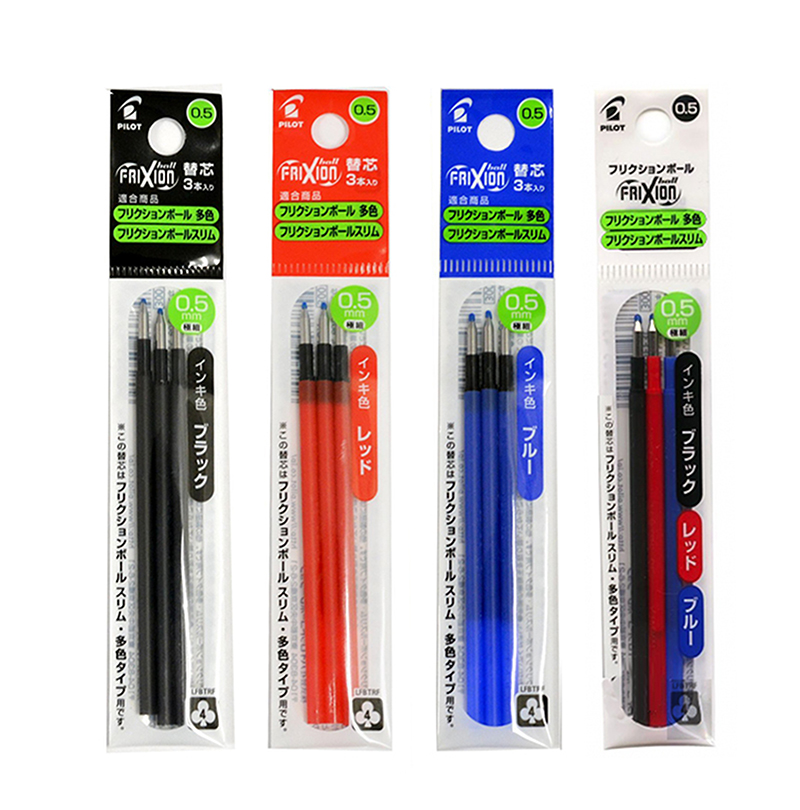 4 x Friction Ball Erasable Rollerball Pens 0.5mm Black Ink Brand New CHEAP