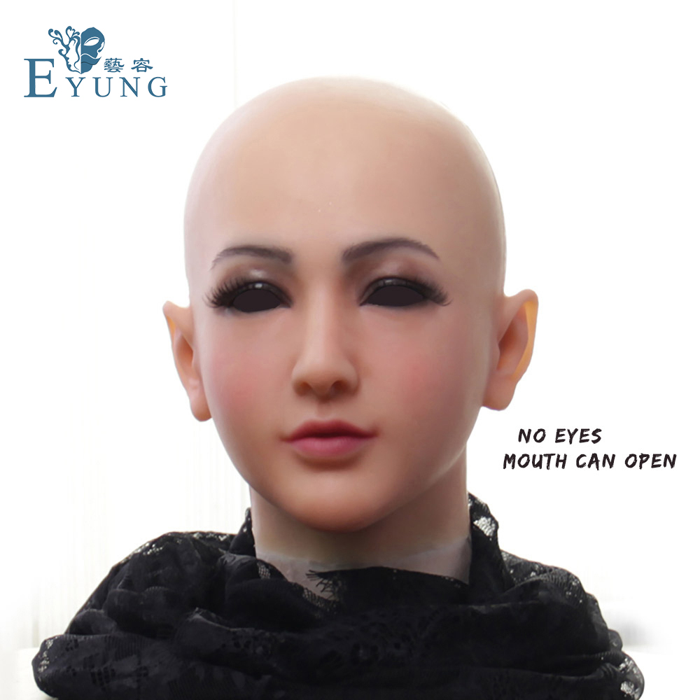 EYUNG Silicon Mask Realistic Goddess Face Party Mask Cosplay  Masque Halloween Mask Crossdresser Realistic Silicone Masks