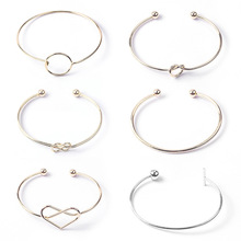 Free combination stainless steel bangle Statement Gothic Punk Charm Open Adjustable Cuff Bracelets Bangles Women Jewelry Gift A3