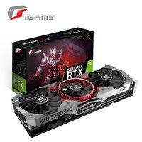 Красочные iGame GeForce RTX 2080 Ti 11 ГБ GDDR6 игровой видеокарты графика карты Advanced OC GPU 1635 МГц 1635 для ПК компьютер